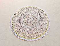 Úžitkový textil - Háčkovaná dečka Nežné kvietky - 12115416_