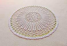 Úžitkový textil - Háčkovaná dečka Nežné kvietky - 12115418_