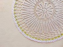 Úžitkový textil - Háčkovaná dečka Nežné kvietky - 12115419_