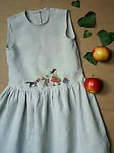 """Šaty - Ľanové šaty """"návšteva"""" - 12114828_"""