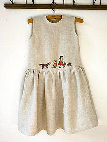 """Šaty - Ľanové šaty """"návšteva"""" - 12114560_"""