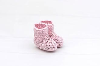 Topánočky - Ružové letné papučky BIO/ORGANIC - 12115310_