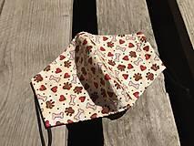 Rúška - M - dizajnové rúško - 12116483_