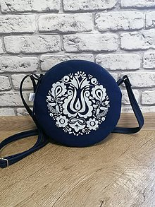 Kabelky - kabelka Tina modrotlač AM4 - 12115581_