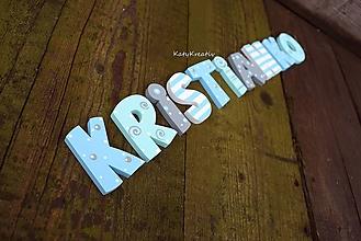 Detské doplnky - drevené písmenká so samolepm - 12117087_