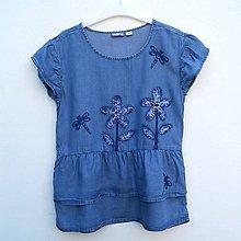 Detské oblečenie - Šaty s vážkami - 12119677_