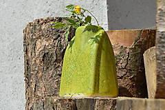"""Dekorácie - Váza zelená """"KRAKLOVANÁ"""". - 12116932_"""