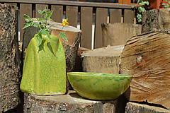 """Dekorácie - Váza zelená """"KRAKLOVANÁ"""". - 12116937_"""