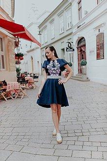 Šaty - tmavomodré šaty Sága krásy (38) - 12118608_
