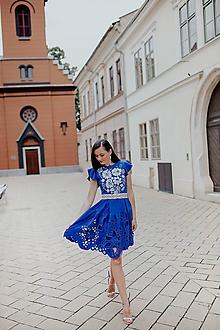 Šaty - modré madeirové šaty Poľana - 12118621_