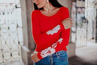 Tričká - červené tričko Poľana - 12118656_