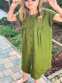 Detské oblečenie - Ľanové šaty - pre dievčatá - 12117467_