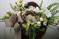 Dekorácie - Margarétky v košíku - 12119609_