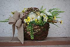 Dekorácie - Margarétky v košíku - 12119613_