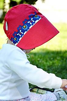Detské čiapky - Baby čepiec červená Karkulka - 12120102_