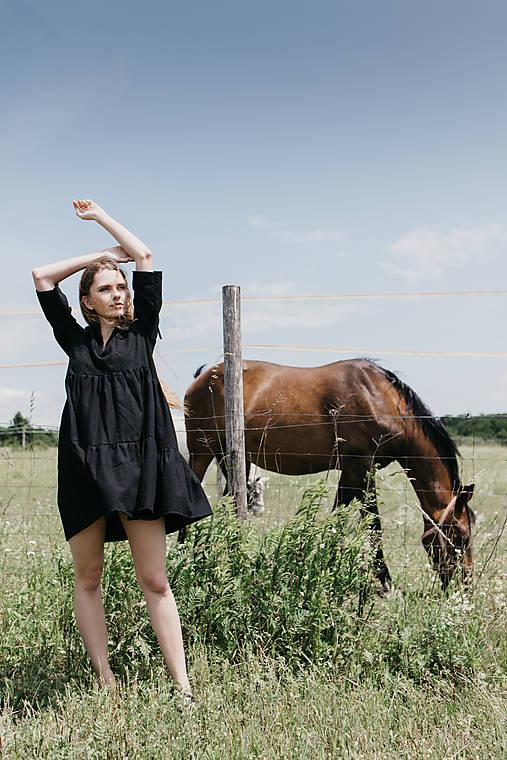 Šaty - Šaty čierne basic - 12118356_