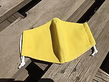 Rúška - rúško ľan-viskóza -žlté - 12116978_