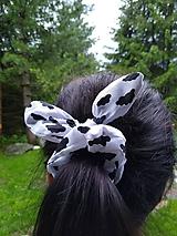 Ozdoby do vlasov - Scrunchies ušatá gumička oblaky - 12120303_