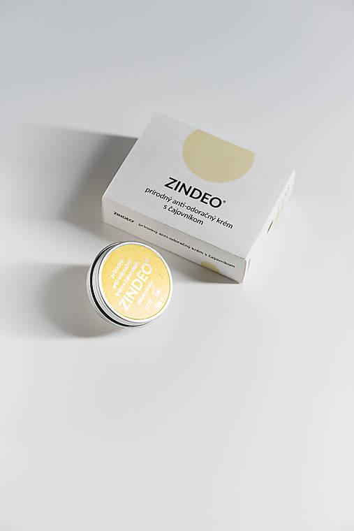 Anti-odoračný krém ZINDEO® s čajovníkovým olejom