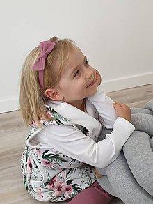 Detské doplnky - Čelenka s mašličkou - 12120215_
