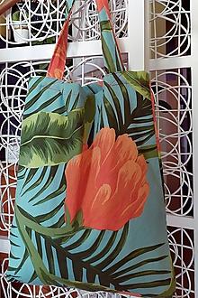 Nákupné tašky - Letná tyrkysovo - oranžovo taška - 12120798_