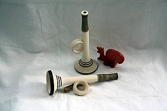 Hračky - Drevené hračky. Detská trumpeta - 12120708_