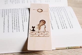 """Papiernictvo - Drevená záložka do knihy """"Spolu"""" - 12120743_"""