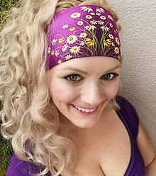 Ozdoby do vlasov - Outdoorová, funkčná čelenka Arnošt - 12121137_