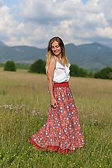 Sukne - sukňa letná- digitálna tlač - 12121841_