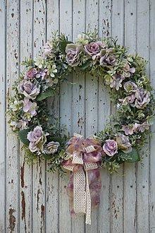 Dekorácie - Venček - Ruže vintage - 12122057_