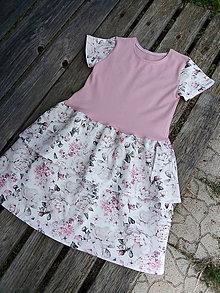 Detské oblečenie - Volánikové šaty - 12120807_