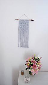 Dekorácie - Macramé dekorácia - Úspech šedá - 12122029_