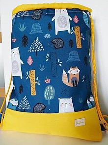 Batohy - Nepremokavý detský batôžtek zvieratká so žltou - 12122013_