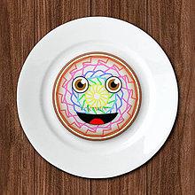 Dekorácie - Čarovný smajlík - potlač na koláč (len grafika) - pestrá farba - 12120885_