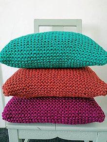 Úžitkový textil - Pletený vankúš - 12123249_