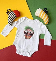 Detské oblečenie - Detské bavlnené body dlhý rukáv - OčiPuči Baby Čičianko - 12124066_