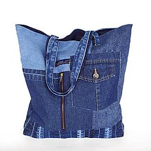 Nákupné tašky - Riflová taška - 12123489_