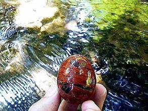 Nezaradené - Yoni vajíčko Červený jaspis - 12122891_