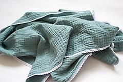 Textil - Gázovinová (mušelínová) deka - petrolejová - 12123982_