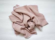Textil - Gázovinová (mušelínová) deka -staroružová - 12124014_