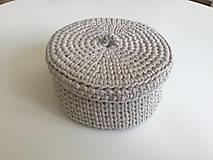 Košíky - Háčkované košíky ( farba slonovinová) - 12122936_