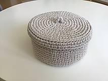 Košíky - Háčkované košíky ( farba slonovinová) - 12122937_