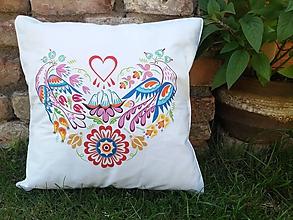 Úžitkový textil - Obliečka na vankúš srdce - 12122396_