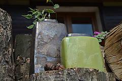 Dekorácie - Váza vysoká bronzová a bronzovo zelená -SET - 12125161_