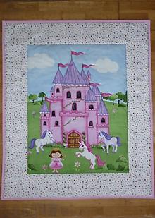 Textil - Detská deka PRINCEZNA A JEDNOROŽEC - 12127503_