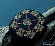 Úžitkový textil - Maľovaný ručne šitý meditačný vankúš NAJA - 12125261_
