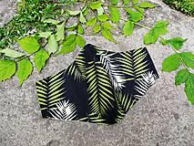 Rúška - Pánske / mužské / UNISEX tvarované RÚŠKO s drôtikom - nové vzory (palmové listy) - 12126805_