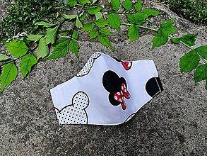 Rúška - Detské tvarované RÚŠKO s drôtikom - nové vzory II. (Mouse myšky) - 12126842_
