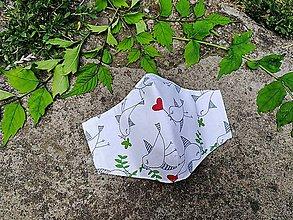 Rúška - Detské tvarované RÚŠKO s drôtikom - nové vzory II. (vtáčiky) - 12126850_