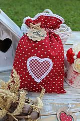Úžitkový textil - Vrecko srdiečko - 12126806_